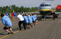 This is the Durham Paramedic team at the plane pull.