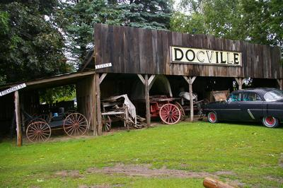 The Livery & old buggies at Docville