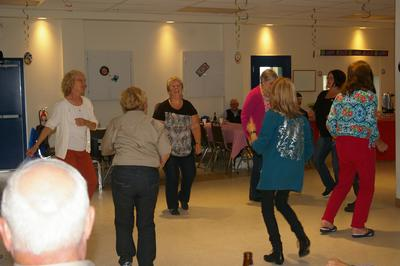 Some of the gals dancing to the music.